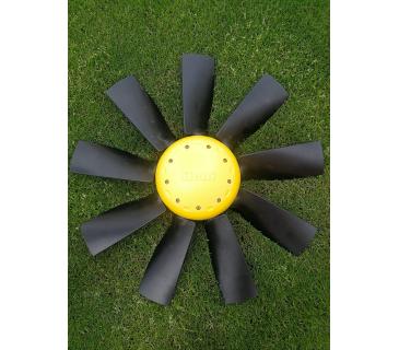 Вентилятор с нейлоновыми лопастями без обгонной муфты в сборе с крышкой (VPL71200003)